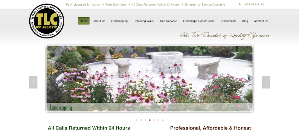 Total Landscaping Care (TLC) Launches A New Website